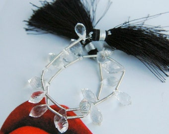 Crystal Quartz Micro-Faceted Chandelliers (full strand)