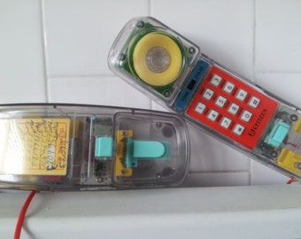 Vintage 1980's Citizen Clear Transparent  Color See Through Telephone- Phone WORKS