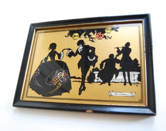 Vintage Silhouette, The Dance, Romantic Home Decor