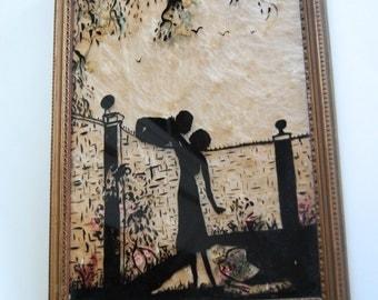 Vintage Silhouette, Romantic Couple, Angel Hair