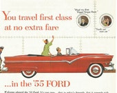 Vintage 1950s 1955 original magazine ad advertisement - Ford  ----Expires May 23, 2016 and will not be renewed----