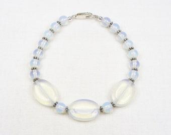Opalite Bracelet - Beaded Jewelry - Gift For Her - Sterling Silver - Beaded Bracelet