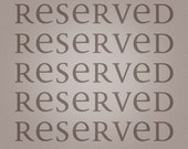 RESERVED FOR S vintage enamel number 1101, 4-digit red on white, from Belgium
