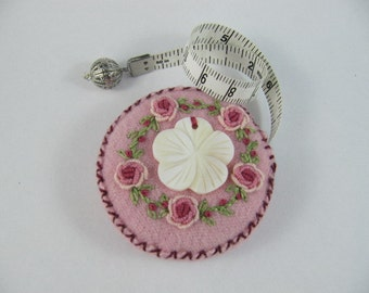 SOLD Tape Measure with  Hand embroidery