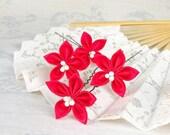 Flower Hairpins - Tsumami Kanzashi