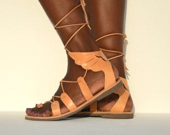 ANANIAS - ancient Greek 'wing of Hermes' leather sandals - NEW