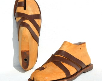 Greek handmade Roman leather sandals for men - NEW