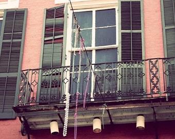 New Orleans Fine Art Photography, Wall Art, French Quarter, Window photograph, Mango Maroon, Mardi Gras travel photo, architecture, art