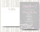 Christening Invitations // Baptism Invitation with birds // Christening for boy or Girl // Custom text and colors