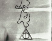 Harry Potter Deathly Hallows Bronze Pendant 90cm Thin Ball Chain