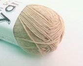 CLEARANCE SALE Beige Wool / Nylon Mix Sock Yarn