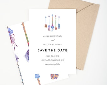 Bohemian Arrows Save The Date, Wedding Announcement, Bridal Shower