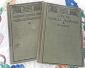 Two Antiquarian School Books Standard English Classics early 1900s