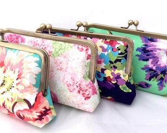 Floral Wedding Party Gift Clutch Handbag Custom Made for Bridesmaids Gift - Design your own