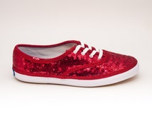 Sequin Starlight Red Keds Sneaker Canvas Tennis Shoes