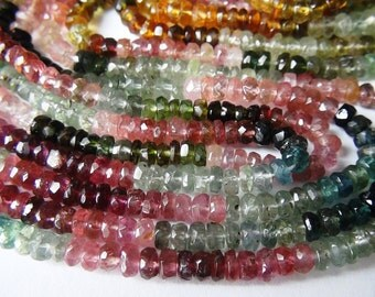 35% OFF Multi Tourmaline faceted rondelle