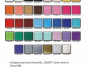 100 Adhesive Vinyl Sheets for Cricuit Silhouette or other cutters 12x12 colors of your choice