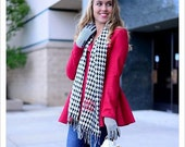 Houndstooth Glove and Scarf Set