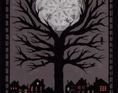 The Moon - 8 x 10 inch Cut Paper Art Print