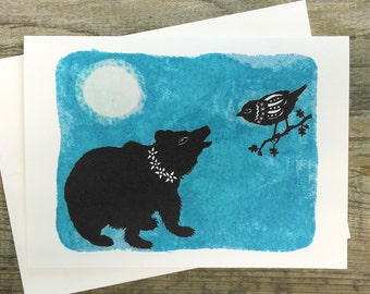 Night Friends - Greeting Card