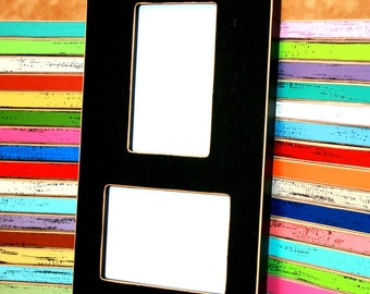 Collage picture frame, 2) 5x7 opening frame, Multi photo frame, Multiple double slot frame, colored frame, vertical & horizontal frame