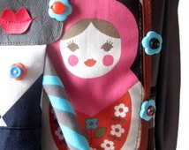 Big bag shoulder strap, bag original, unique bag, bag russian dolls, bag matriochka N52