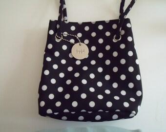 Black and White Polka Dot Purse Vintage Nine West Bag