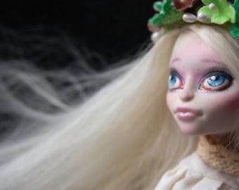 LAST SALE! Full custom repainted Monster High Skelita Calaveras Alpaca Hair Reroot.