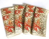 Vintage Napkins Set Emilio Pucci Butterflies Farfalla Collection