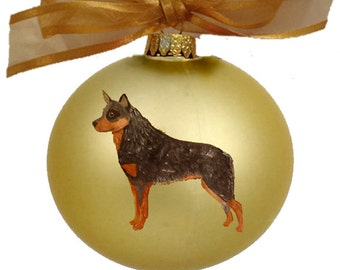 Australian Cattle Dog Blue Heeler Hand Painted Christmas Ornament - Can Be Personalized with Name
