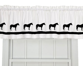 Quarter Horse Window Valance / Curtain - Your Choice of Colors