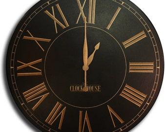 36in CHURCHILL Large Wall Clock Gallery Antique Style family heirloom FREE Inscription