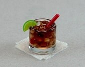 Rum and Coke Cocktail  (1:12th scale)