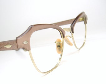 Vintage Cat Eye Eyeglasses Frame 12kt gf Art Craft