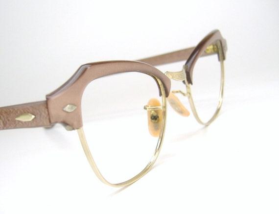 Vintage cat eye eyeglasses frame 12kt gf art craft for Art craft eyeglasses vintage