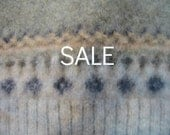 SALE - Supply - Felted Wool Sweater - Light Green - Recycled Fabric Material
