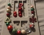 Reserved forMs. Strickland Christmas Gumball Necklace Big Beautiful and Bodacious and Chunky Feliz Navidad