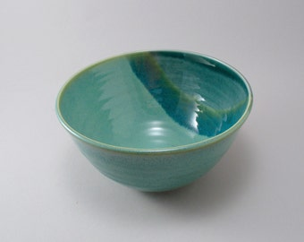 Ceramic Bowl-Serving Bowl-Stoneware-Green-Teal-Blue Green-Ready to Ship
