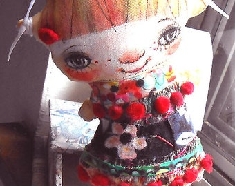 Original art doll  Little Lilly girl  hand made ,hand painted,OOAK from miliaart studio