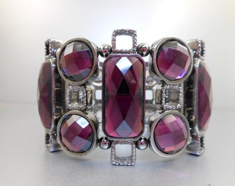 Joan Rivers Purple Rhinestone Bracelet