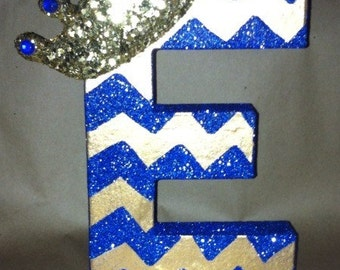 Chevron letters with crown.  Table numbers can be done as centerpieces, decorations, etc.
