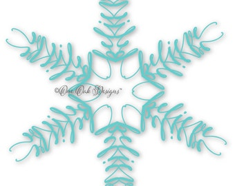 Believe SVG Snowflake SVG PDF / dxf / jpg / png / eps / ai / for Cameo, Cricut & other electronic cutters