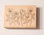 Impression Obsession Five Roses J2441 rubber stamp