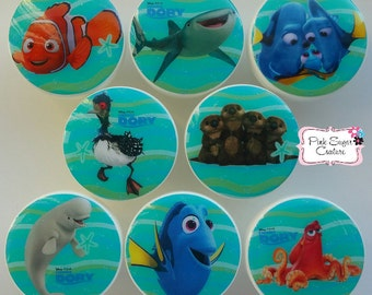 Finding DORY NEMO Knobs Nursery Room decor Drawer Pulls M2M bedding Set #3 art ... so cute!