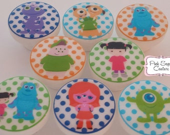 8 MONSTERS UNIVERSITY KIDS Knobs #2 Handmade m2m Bedding Babies Nursery Room Drawer Pull Kids Decor boys girls