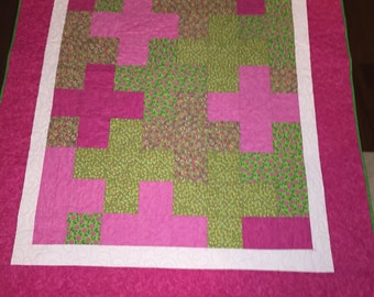 Pink Plus Green Quilt