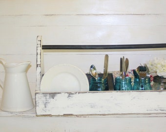 Extra Large Wood Tool Crayon Caddie Fixer Upper Inspired