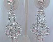 Vintage Crystal Chandelier Wedding Earrings