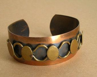 Vintage Genuine Copper Mid Century Cuff or Vintage Copper Bracelet