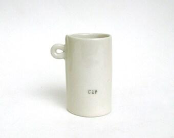 hand built petite porcelain cup